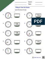 time fillclocks
