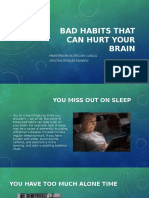 Bad Habits That Can Hurt Your Brain