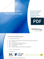 Ammonia water hybrid heat pump