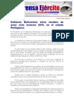 Gobierno Bolivariano Inicia Siembra de Arroz Ciclo Invierno 2010, En El Estado Portuguesa