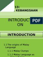 Week 1 - Introduction to Bahasa Kebangsaan