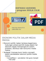 Presentasi Ekonomi Politik Media- Komodifikasi pada program Idola Cilik