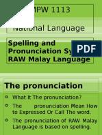 Week 2 - Spelling & Pronunciation