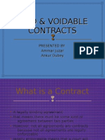 Void & Voidable Contracts