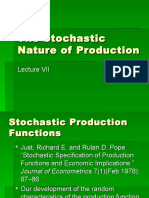 The stochastic Nature of Production
