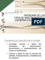 Unidad 2.- Taxonomía de Los Tipos de Mantenimiento y Conservación Industrial