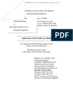 Defendants Supp Brief Baker v Kealoha