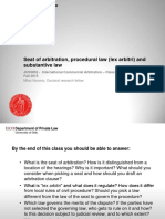 3 Seat of Arbitration Procedural Law (Lex Arbitri) and Substantive Law
