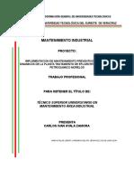 Mantenimiento Preventivo a Equipos Dinamicos( Soplador Centrifugo Multietapa y Motor Electrico)