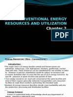 NON- CONVENTIONAL ENERGY RESOURCES AND UTILIZATION