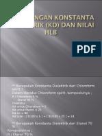 Perhitungan Konstanta Dielektrik (KD)