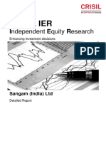 2016-07-25 514234%3DIN (CRISIL Limite) CRISIL IER–Sangam (India) Ltd–DetailedReport