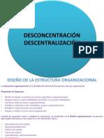 Desconcentración y Desentralización
