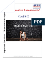Mathematics Chapter-wise Assignment for Class 9 Summative Assessment-1