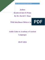 Joshua in E-Prime With Interlinear Hebrew in IPA Revision 2