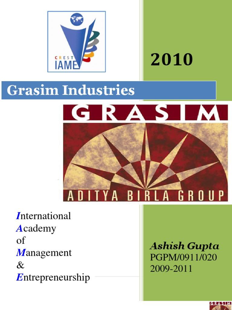 COMPANY PROFILE 2010@ grasim industries | Textile And