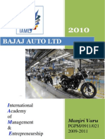 COMPANY PROFILE 2010@ bajaj auto limited report