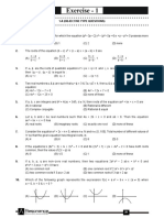 Quadratic equation problem Sheet