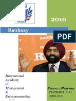 compant profile 2010@ Ranbaxy
