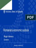 Prezentarea Isarescu ambasadorilor din Romania