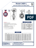 UWP Model 2400-L Lug Type Butterfly Valve