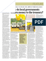 Why do local governments return money to the Treasury?