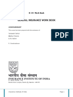 IC-34- Work Book GENERAL INSURANCE WORK BOOK