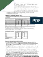 The Assessment Objectives Word Mark Scheme for Jan2010