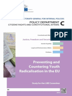 Preventing and Countering Youth Radicalism in EU