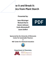 Starch to Plastics Lab March 26 2015