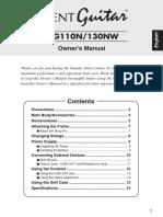 Yamaha SLG 110N manual