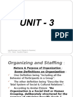 Unit 3 Organising and Staffing