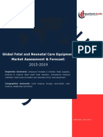 Global Fetal and Neonatal Care Equipment Market Assessment & Forecast
