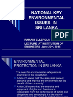 IESL National Key Environmental Issues in Sri Lanka