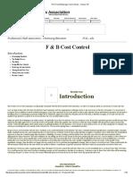 PCA Food & Beverage Cost Controls - Finance 101