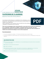 Brochure Presentation Plateforme E Learning