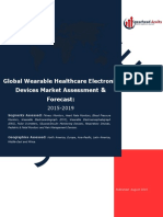 Global Wearable Healthcare Electronic Devices Market Assessment & Forecast