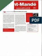 Les Conseillers départementaux Socialistes et Républicains aux côtés des camarades Val-de-Marnais