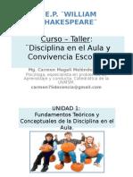taller disciplina en aula