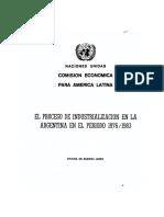 EL PROCESO DE INDUSTRIALIZACION EN LA ARGENTINA EN EL PERIODO I976/I983
