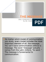 Message and Delivery in Oral Communication