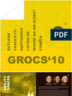 GROCS Final Projects 2010 - booklet