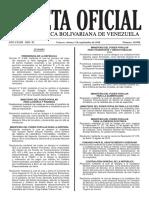 Gaceta Oficial Nº 40.980 - Notilogía