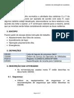 Anexo 9 - Exemplo de Procedimento de Operação de Caldeira