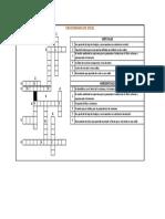 Crucigrama de Excel