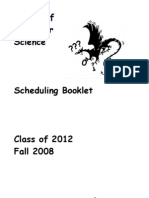 CMU SCS 2012 Scheduling Booklet