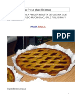 Receta Pastafrola