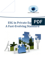 ESG in Private Equity