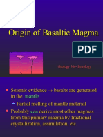 Chapter 10 - Origin of Basaltic Magma