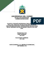 Plan de pasantia de educacion unicaribe HERNAN